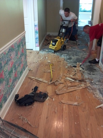 Removing the wood floor