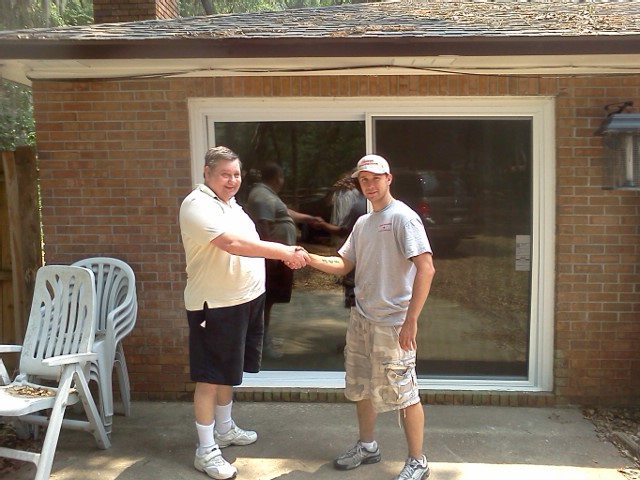 Derrick And Another Happy Home owner