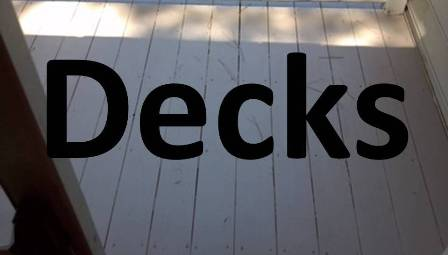 We build and rebuild decks