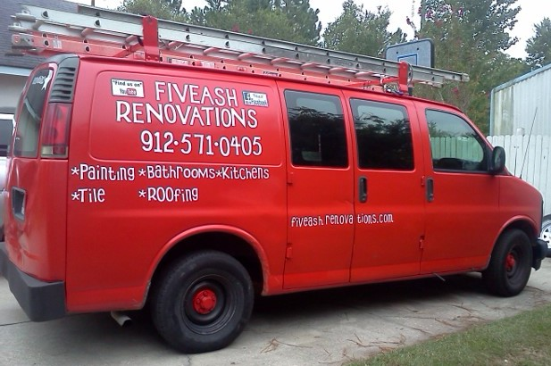 Fiveash Renovations Van