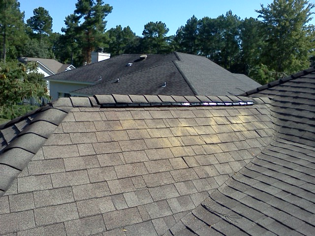 Roofing Ridge Vent Amp Roof Vent Before