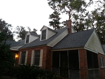 Finished reroof Brunswick, Ga